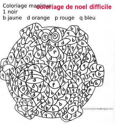 Coloriage De Noel Difficile