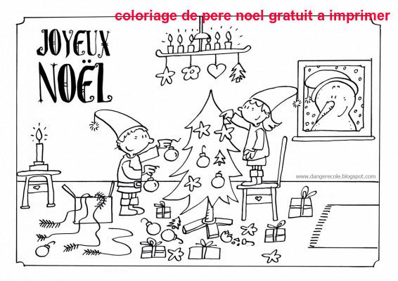 Coloriage De Pere Noel Gratuit A Imprimer