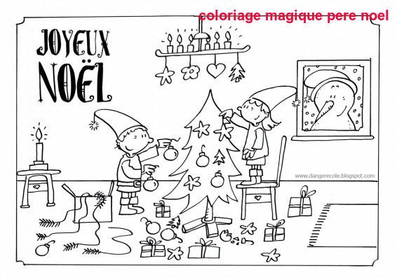 Coloriage Magique Pere Noel