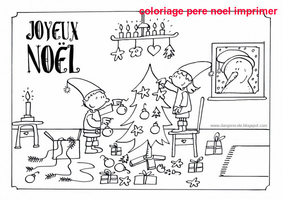 Coloriage Pere Noel Imprimer