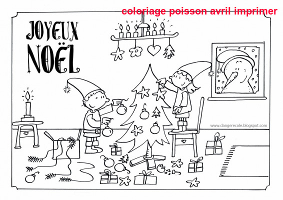 Coloriage Poisson Avril Imprimer