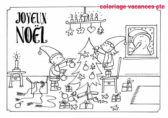 Coloriage Vacances Ete