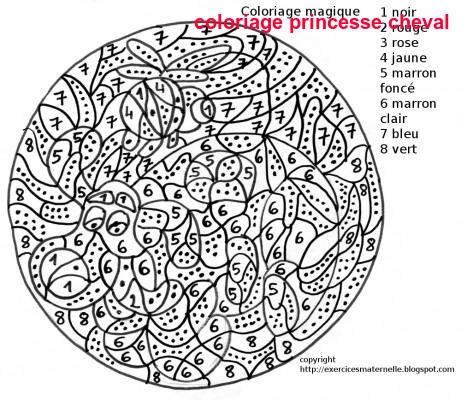 Coloriage De Cheval Princesse A Imprimer.Coloriage Princesse Cheval