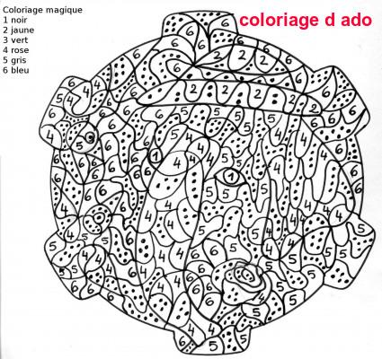 Coloriage D Ado