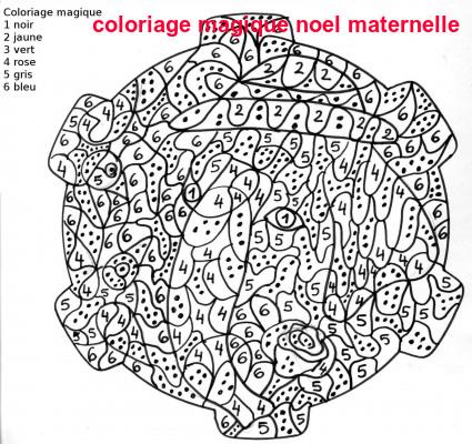 Coloriage Magique Noel Maternelle