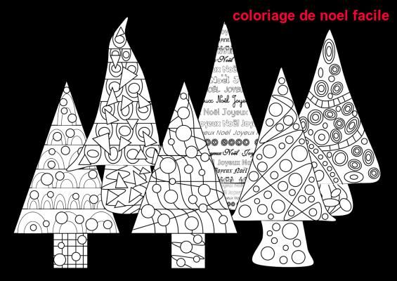Coloriage De Noel Facile