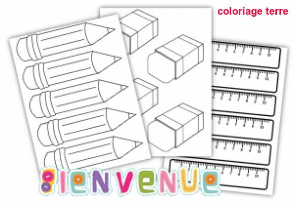 Coloriage Terre