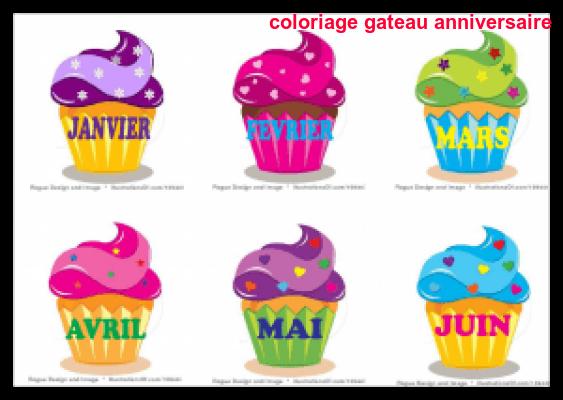 Coloriage Gateau Anniversaire