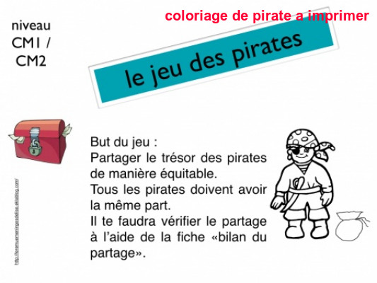 Coloriage De Pirate A Imprimer