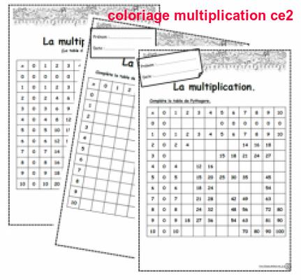 Coloriage Multiplication Ce2