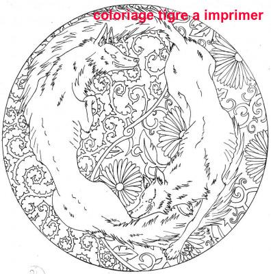 Coloriage Tigre A Imprimer