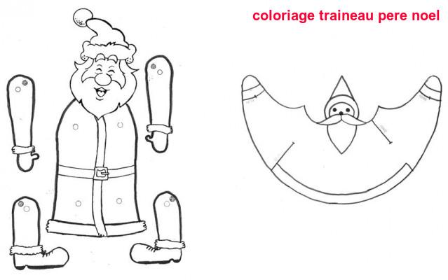 Coloriage Traineau Pere Noel
