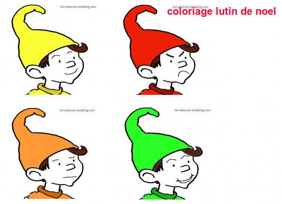 Coloriage Lutin De Noel