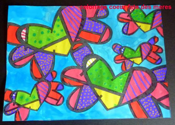 Coloriage Coeur Fete Des Meres
