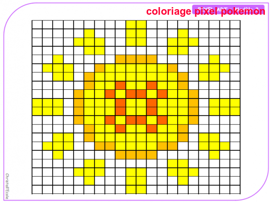 Coloriage Pixel Pokemon