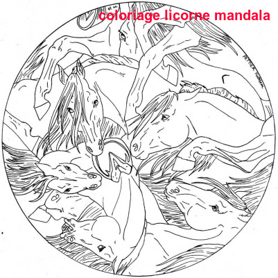 Coloriage Licorne Mandala