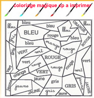 Coloriage Magique Cp A Imprimer