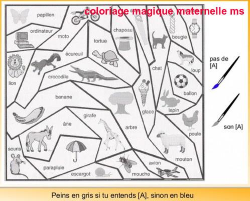 Coloriage Code Printemps Ms.Coloriage Magique Maternelle Ms