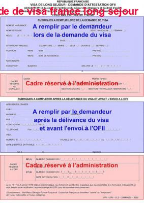 Demande De Visa France Long Sejour