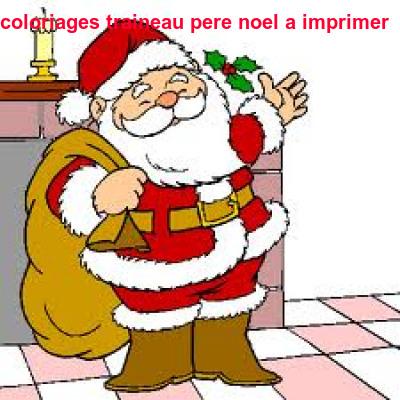 Coloriages Traineau Pere Noel A Imprimer