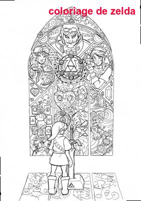 Coloriage De Zelda