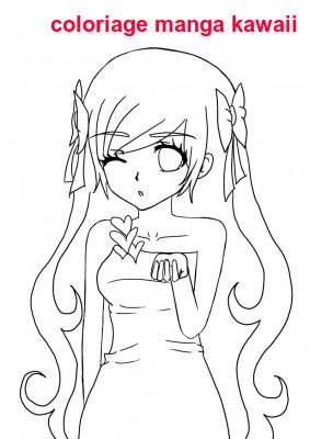 Coloriage Manga Kawaii