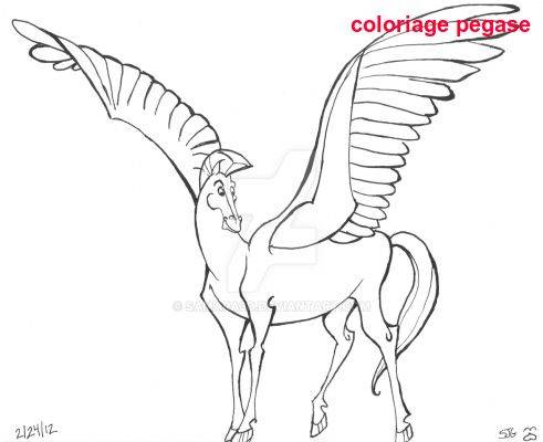 Coloriage Pegase
