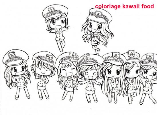 Coloriage Kawaii Food