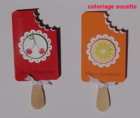 Coloriage Sucette