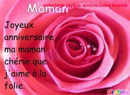 Coloriage Anniversaire Maman A Imprimer Gratuit.Coloriage Joyeux Anniversaire Mamie