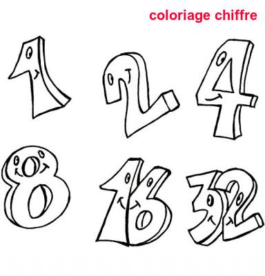 Coloriage Chiffre