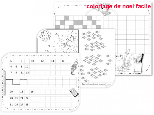 Coloriage De Noel Facile