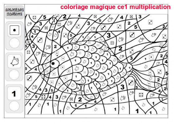 Coloriage Code Table De Multiplication.Coloriage Magique Ce1 Multiplication