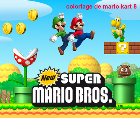Coloriage De Mario Kart 8