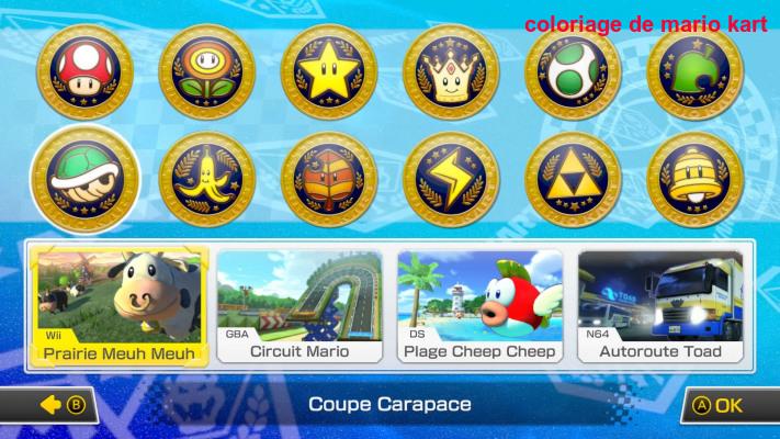 Coloriage De Mario Kart