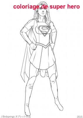 Coloriage De Super Hero