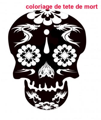 Coloriage De Tete De Mort