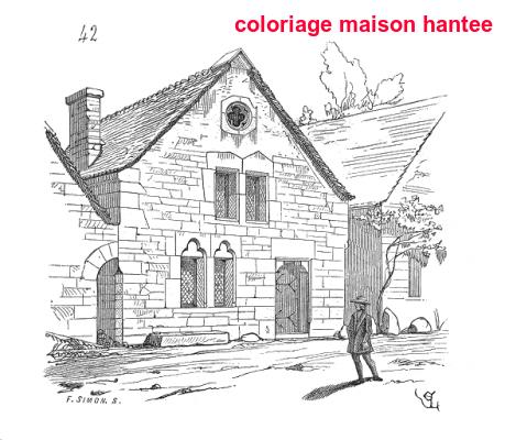 Coloriage Maison Hantee
