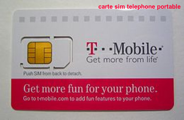 Carte Sim Telephone Portable