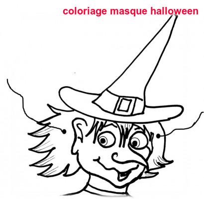 Coloriage Masque Halloween